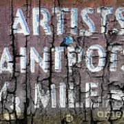Artists' Paintpots Sign Poster