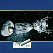 Artwork Showing An Explosion On Board Apollo 13 Poster