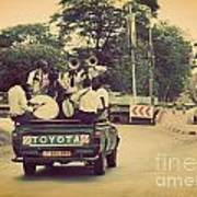 Arusha. Tanzania. Africa. A Group Of Young Men Celebrating Their Graduation Poster