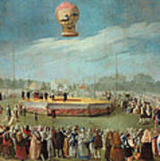 Ascent Of A Balloon In The Presence Of The Court Of Charles Iv Poster