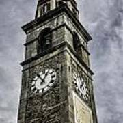 Ascona Clock Tower Poster