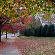 Asheville In The Fall Poster by Walt  Baker