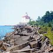 Ashtabula Lighthouse On Lake Erie Poster