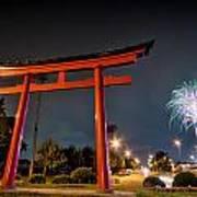 Asian Fireworks Poster