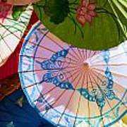 Asian Umbrellas Poster