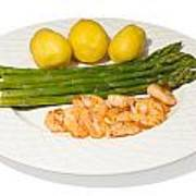 Asparagus And Shrimps Poster