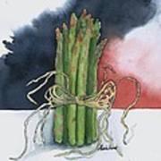 Asparagus In Raffia Poster