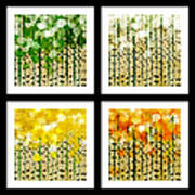 Aspen Colorado Abstract Square 4 In 1 Collection Poster