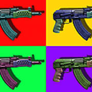 Assault Rifle Pop Art Four - 20130120 Poster