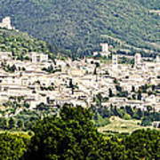 Assisi Italy - Medieval Hilltop City Poster