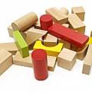 Assorted Building Blocks Poster