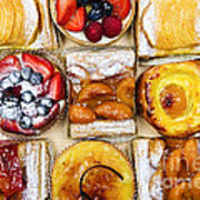 Assorted Tarts And Pastries Poster by Elena Elisseeva