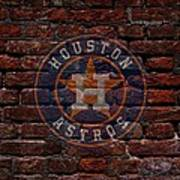 Astros Baseball Graffiti On Brick  Poster by Movie Poster Prints