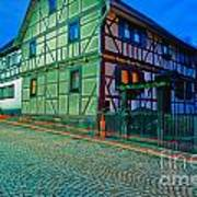 At Night In Thuringia Village Germay Poster