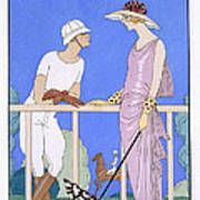 At Polo Poster by Georges Barbier