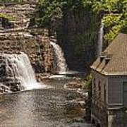 At The Falls In Ausable Ny Poster
