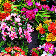 At The Flower Market  Poster
