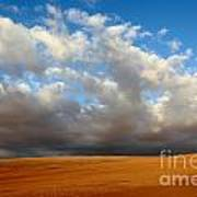 Clouds Over The Atacama Desert Chile Poster