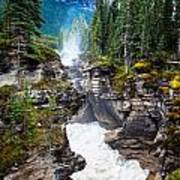 Athabasca Falls Poster by Chris Heitstuman