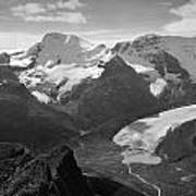 T-303504-bw-athabasca Glacier In 1957  Poster