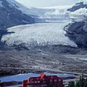 1m3734-athabasca Glacier W Original Icefields Chalet Poster