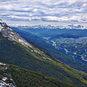 Athabasca River Valley - Jasper Poster