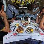 Athenians Eat Lunch Poster