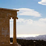 Athens And The Sea From The Acropolis Poster