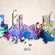 Atlanta Painted City Skyline Poster