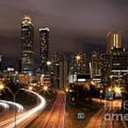 Atlanta Skyline At Dusk Poster