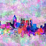 Atlanta Skyline Watercolor 4 Poster