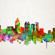 Atlanta Skyline Watercolor Poster