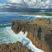 Atlantic Breakers Pontal Portugal Poster