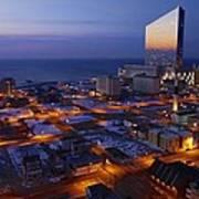 Atlantic City At Dawn Poster