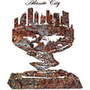 Atlantic City Rusty Skyline Poster