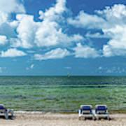 Atlantic Ocean At Smathers Beach In Key Poster