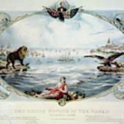 Atlantic Telegraph Cable Poster