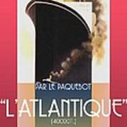 French Travel Poster Advertisement Atlantique Poster