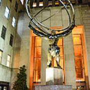 Atlas In Rockefeller Center Poster