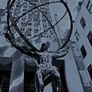 Atlas Rockefeller Center Poster Poster
