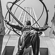 Atlas Statue Rockefeller Center Poster