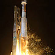 Atlas V Rocket Taking Off Poster