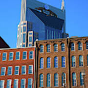 At&t Building And Historic Red Brick Poster