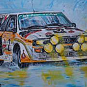 Audi Quattro On The Rocks Poster