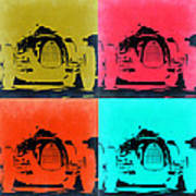 Audi Silver Arrow Pop Art 2 Poster