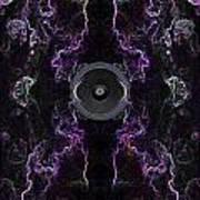 Audio Purple Neon Poster