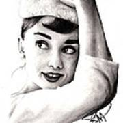 Audrey Hepburn 2 Poster by Rosalinda Markle