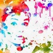 Audrey Hepburn Paint Splatter Poster