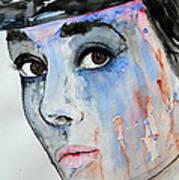Audrey Hepburn - Painting Poster