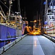 Auke Bay By Night Poster